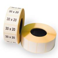 Термотрансферная этикетка 30х20х1800 полуглянец