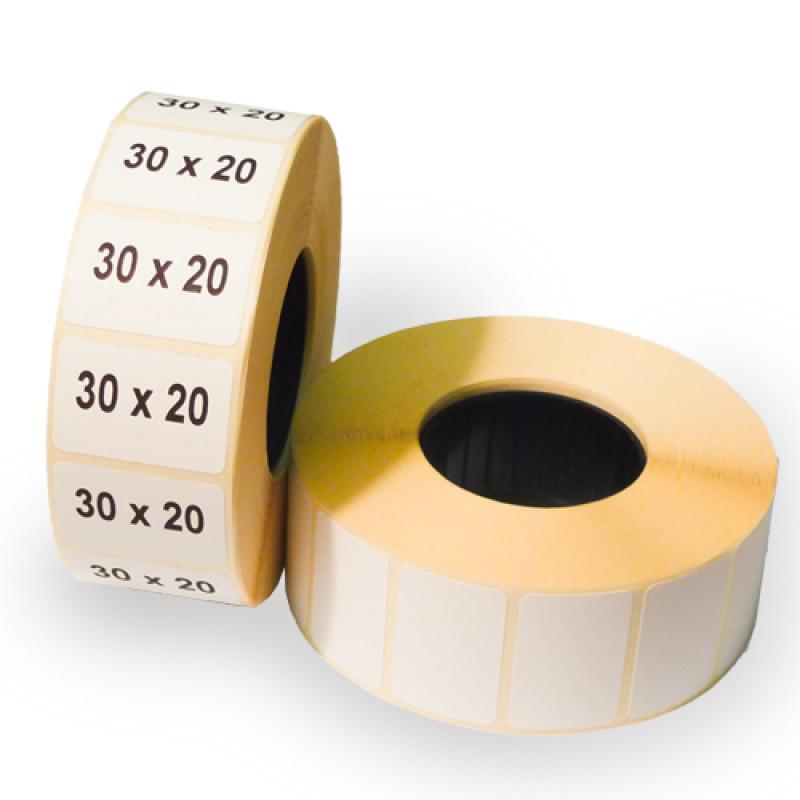 Этикетки 30х20х1800 полуглянец термотрансферные
