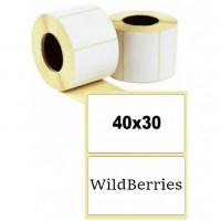 Термоэтикетка 40x30x1000 ЭКО - для WildBerries