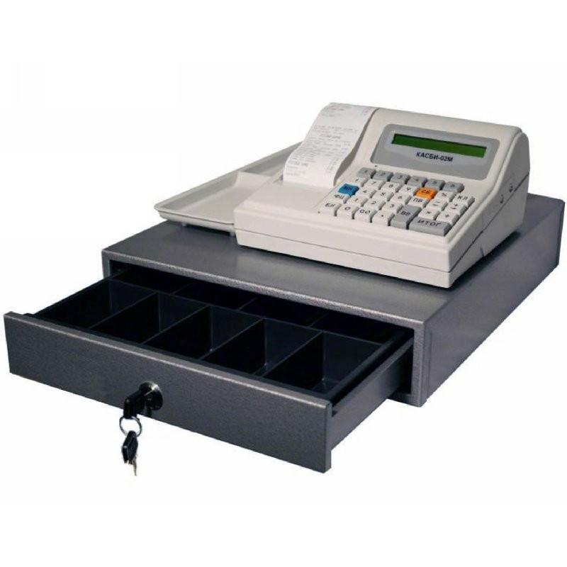 КАСБИ-02М чепопечатающая машина для ЕНВД с денежным ящиком